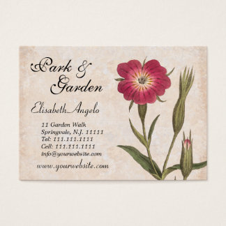 Nature Lover's Collage Wildflowers and Insects Business Card