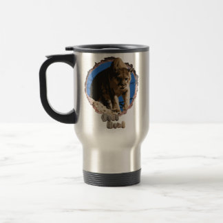 Nature lovers mountain lion travel mug. travel mug