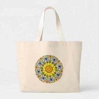 Nature Mandala Large Tote Bag