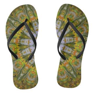 Nature Mandala Slim Straps Flip Flops