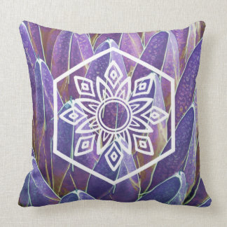 Nature meets geometry throw pillow