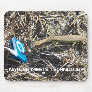 NATURE MEETS TECHNOLOGY MOUSE PAD