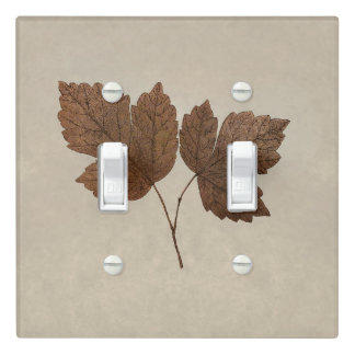 Nature Minimalist Fall Leaves Elegant Custom Light Switch Cover