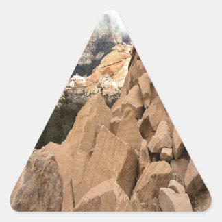 Nature Mountain Extreme Rockies Triangle Sticker