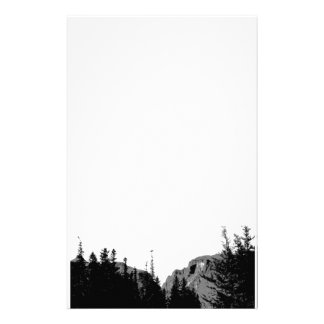 Nature Mountain in B W Stationery Stationery