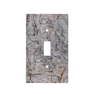 Nature Neutral Tree Bark Photo Light Switch Cover
