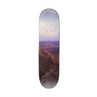 Nature oil paint custom skateboard