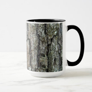 Nature Old Pine Tree Bark with Name Mug