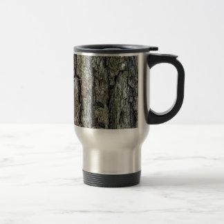 Nature Old Pine Tree Bark with Name Travel Mug