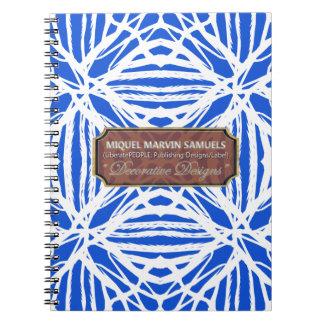 Nature Pattern Blue White Modern Notebook