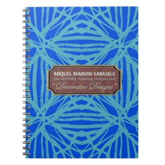 Nature Pattern Blues Modern Notebook