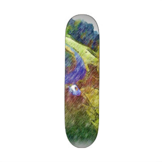 Nature photo drawing skate board decks