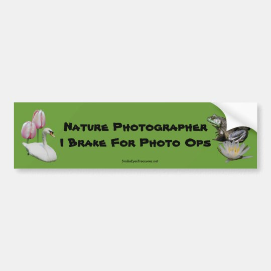 Nature Photographer Brake Photo Ops Bumper Sticker