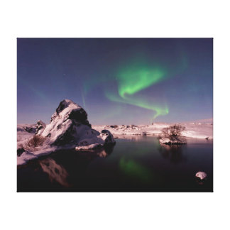 Nature photography |  Northern lights | winter Canvas Print