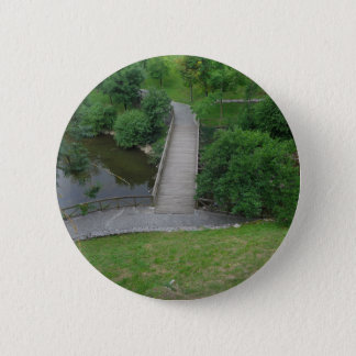 Nature Photography Park Bridge Trees Green 2 Inch Round Button