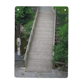 Nature Photography Park Bridge Trees Green Dry Erase Board