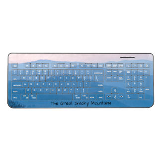 Nature Photography - Smoky Mountain Sunrise Wireless Keyboard
