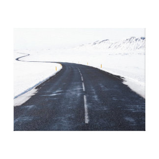 Nature photography |  snow | road canvas print