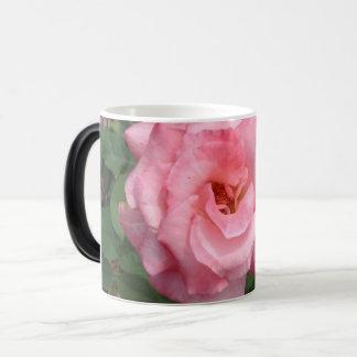 Nature Pink Rose in Bloom Magic Mug