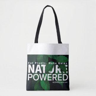 Nature Powered. Eat Plants. Make Gains. Tote Bag