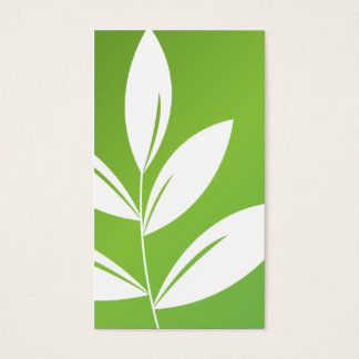 Nature Print - Green Leaves Business Card