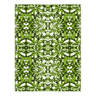 Nature Print Pattern Postcard