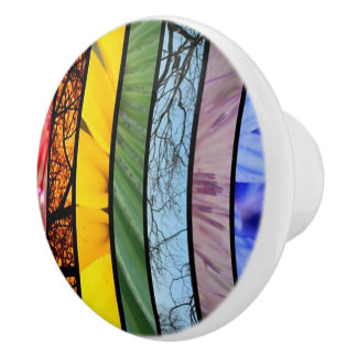 Nature Rainbow LGBT Pride Symbol Cabinet Knob Ceramic Knob
