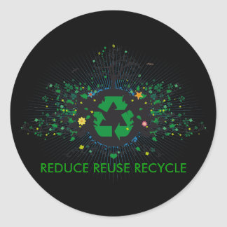Nature Recycles Round Stickers