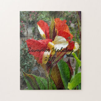Nature Red Flower Floral Photography Jigsaw Puzzle