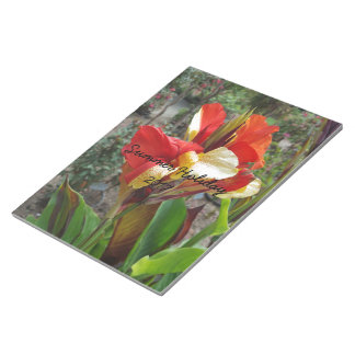 Nature Red Flower Floral Photography Notepad