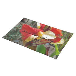 Nature Red Flower Floral Photography Placemat
