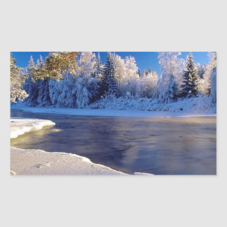 Nature River Ice Flow Sticker