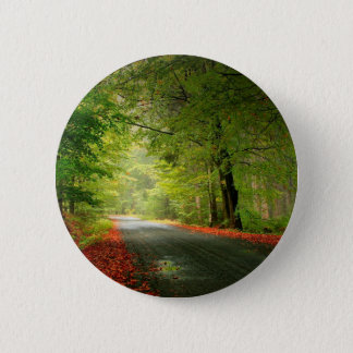 Nature Road Springtime Woods 2 Inch Round Button