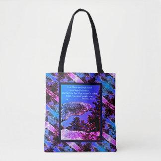 Nature Rock Scripture Tote Bag