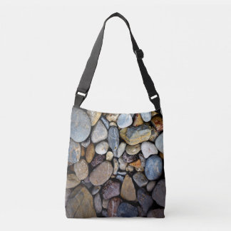 Nature Rocks Pebble template Crossbody Bag