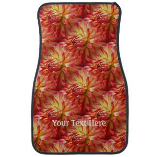 Nature rouge de fleur de dahlia personnalisée tapis de voiture