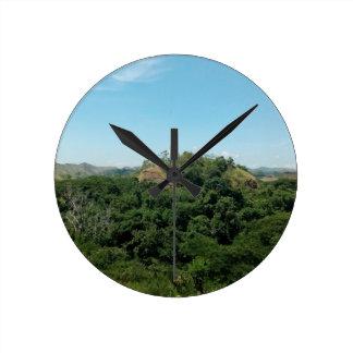 Nature Round Clock