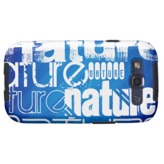 Nature; Royal Blue Stripes Samsung Galaxy S3 Covers