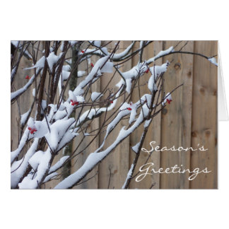 Nature Rustic Holiday Card