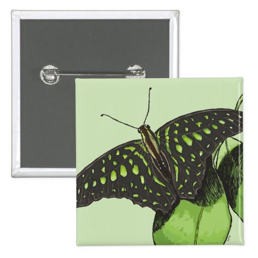 Nature's Camouflage Butterfly Pinback Button