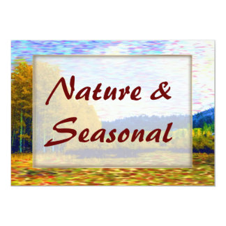 "Nature Seasonal IWed icon 2 5"" X 7"" Invitation Card"