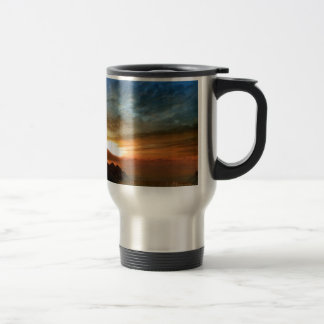 Nature Sky Sunlit Horseshoe Falls Travel Mug