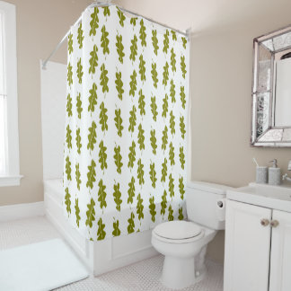 Nature Spring Green Leaves Pattern, Custom Color