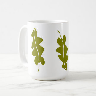 Nature Spring Green Leaves Pattern, Custom Color Coffee Mug