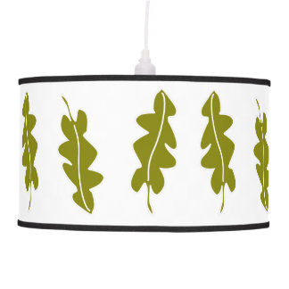 Nature Spring Green Leaves Pattern, Custom Color Pendant Lamp