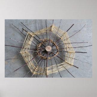 Nature String Art Sculpture Photography Center Poster