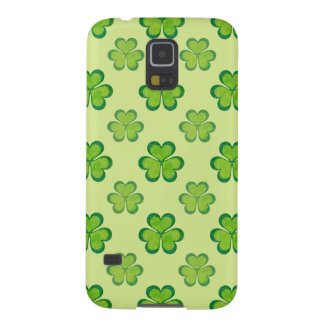 Nature Stylish Green Lucky Shamrock Clover Pattern Galaxy S5 Covers