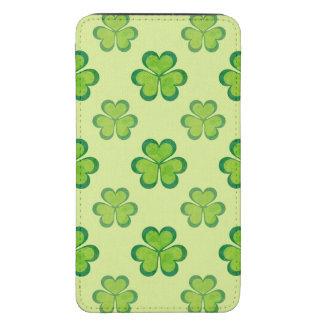 Nature Stylish Green Lucky Shamrock Clover Pattern Galaxy S5 Pouch