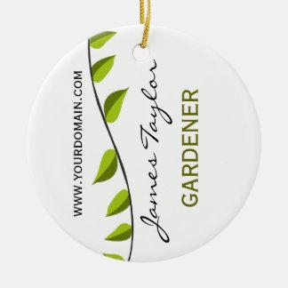Nature Summer Garden Leaf Gardening Green Ceramic Ornament