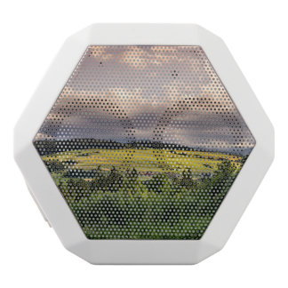Nature Sunset Hills Landscape In Poland White Bluetooth Speaker